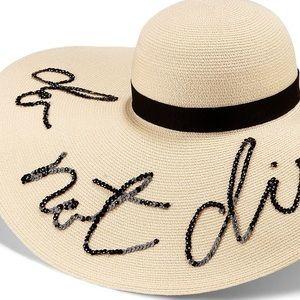 "Eugenia Kim Accessories - Eugenia Kim ""Do not disturb"" straw hat"